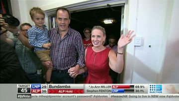 Kate Jones claims victory for Labor in Ashgrove. (9NEWS)