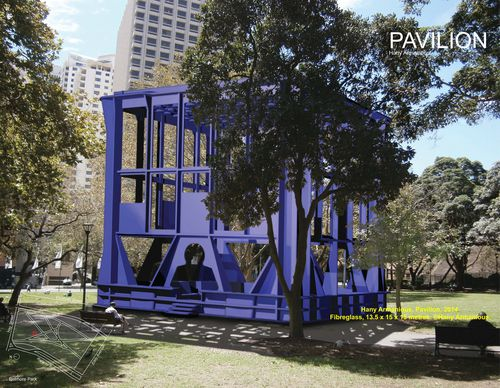 The $2.5m Pavilion by Hany Armanious has been dubbed the Milk Crate. (AAP)