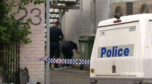 Police investigating the alleyway in Brisbane where the woman was attacked in 2011. Picture: 9NEWS