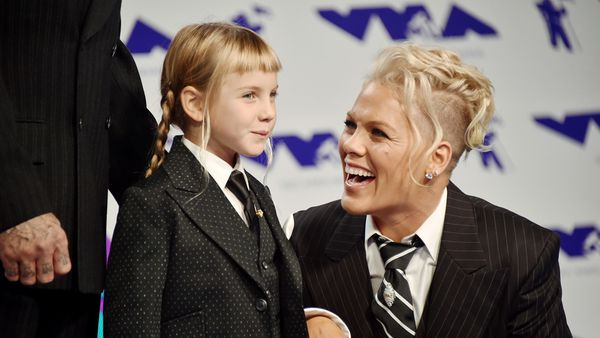 We love that pop star Pink, here with daughter Willow, will not tolerate mum shaming. Image: Getty.