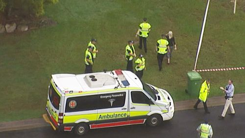 Police are also at the scene of the toddler's death and are investigating. (9NEWS)