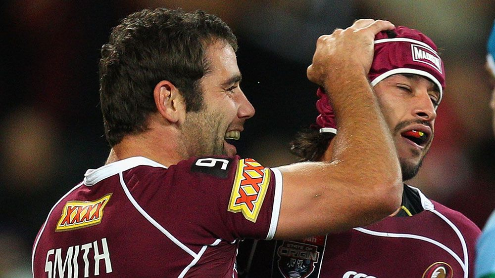 Cameron Smith and Johnathan Thurston. (AAP)