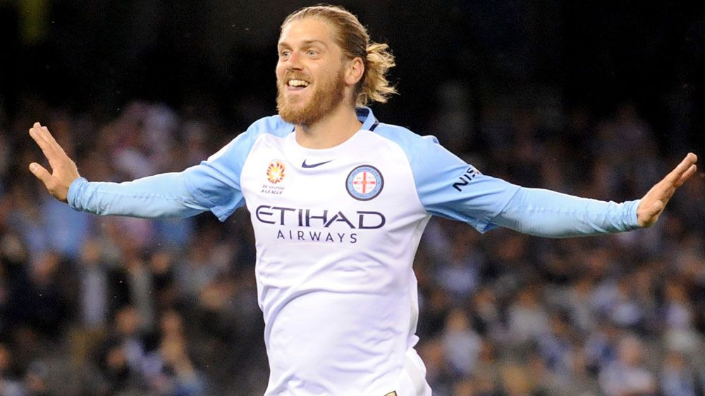 Luke Brattan has been rewarded for a strong start to the A-League season. (AAP)