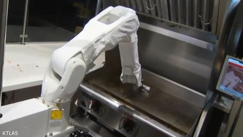 Flippy the burger robot has started work at a California restaurant.