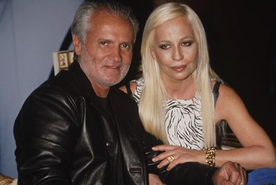 Gianni Versace with his sister Donatella who took over the company following his murder. This photo was taken in 1996 at the launch of the Versace Blonde fragrance.