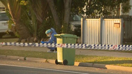A man was shot in the front yard of his Deception Bay home north of Brisbane.