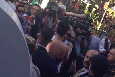 Katy + Niall, sitting in a tree...<br/><br/>Image: Amy Nelmes, ninemsn, taken from pizzAperta, Star