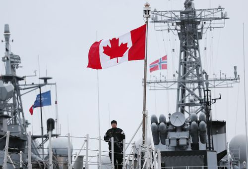 This Canadian warship is among the naval forces taking part.