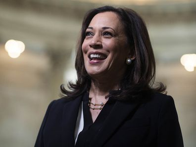 Kamala Harris pictured in 2020