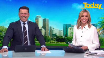 Stefanovic and Langdon burst into stitches at the candid response.