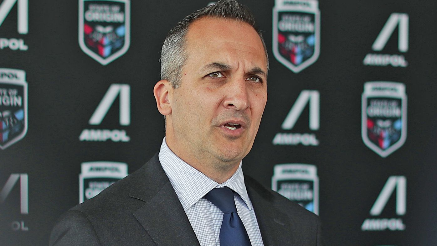 NRL boss Andrew Abdo slams Peter V'landys 'storm in a teacup'