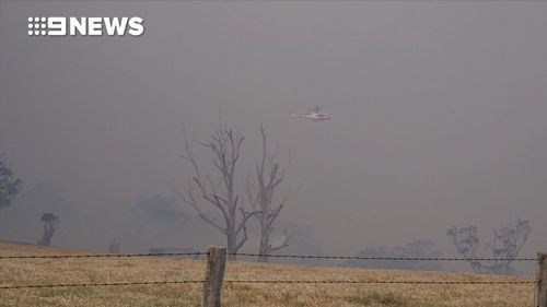 Thick smoke is now blanketing the NSW south coast.