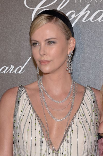 Charlize Theron in Chopard at the Hotel Martinez, Cannes on May 22, 2017.