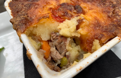 Megalong Valley Tearooms slow roasted lamb shoulder shepherd's pie with cheesy crust