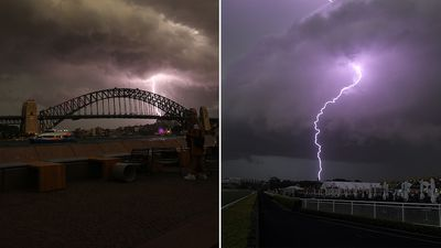 NSW hit by 300,000 lightning strokes in severe storm
