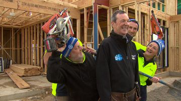 Tradies build home for free to raise funds for Daniher's FightMND