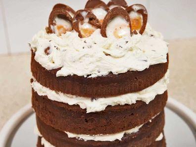 Cadbury Creme Egg cake trick