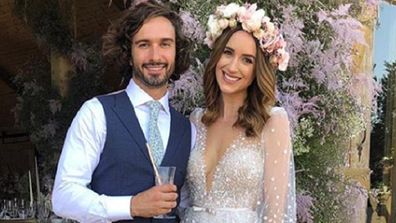 Joe Wicks on his wedding day with his wife Julie