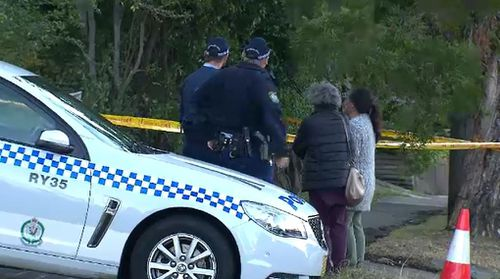 Police have locked down the property and spoken to the occupants. Picture: 9NEWS
