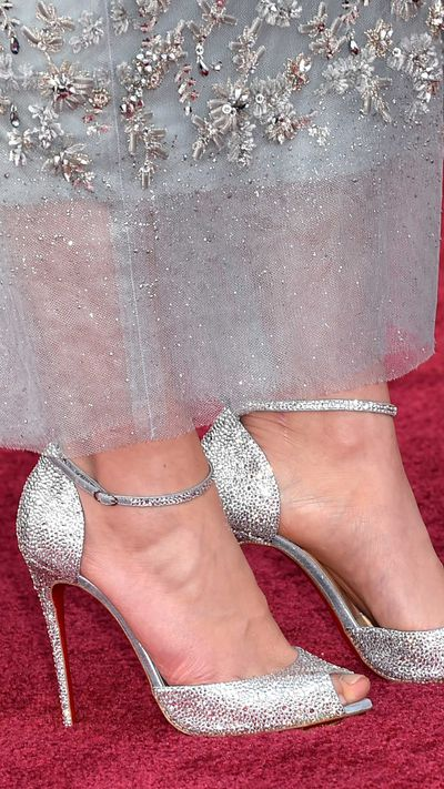 Daisy Ridley's Christian Louboutin heels.