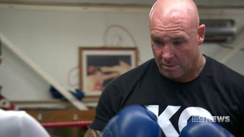 Lucas Browne is preparing for a heavyweight bout against Dillian Whyte. (9NEWS)