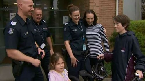 Police surprise 13-year-old Melbourne boy by replacing his stolen bike