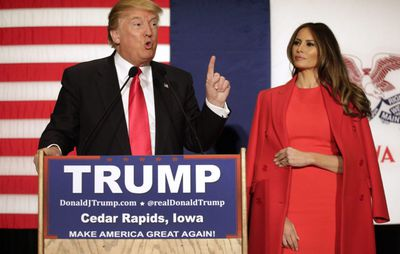 Melania Trump in Ralph Lauren, February 2016.