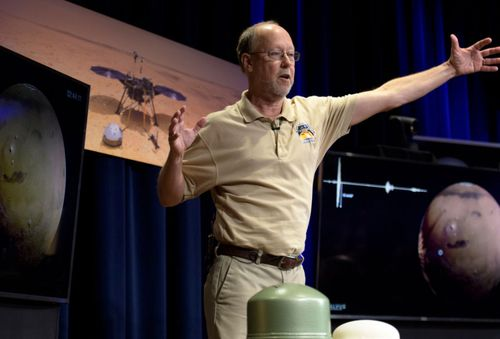 Bruce Banerdt, InSight Principal Investigator, NASA JPL, talking about Mars InSight during a pre-landing briefing at NASA's Jet Propulsion Laboratory in Pasadena, California on the weekend.