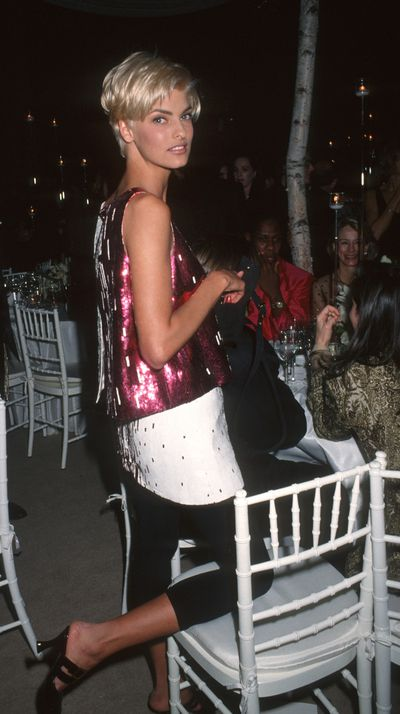Linda Evangelista at the '7th On Sale' To Benefit AIDS Research Gala, 1990.<br><br>