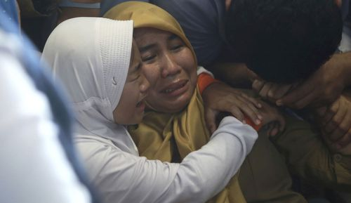 Anxious families are desperately waiting for news on their loved ones after the Lion Air plane carrying as many as 189 people crashed into the ocean 13 minutes after taking off from Jakarta in Indonesia today.