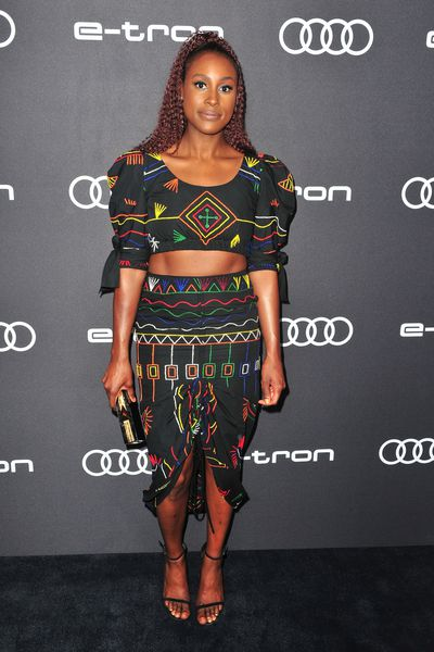 Actress Issa Rae arrives at the Audi Celebrates The 70th Emmys event held in West Hollywood. Rae is up for the 'Lead Actress in a Comedy Series' award for her role in <em>Insecure.</em>