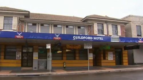 The dad parked his vehicle outside the Guildford Hotel before going inside to play the pokies. (9NEWS)