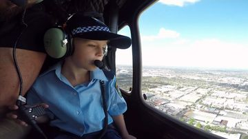 Police grant little boy's wish to become a crime-fighting hero