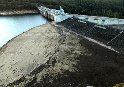 The drought continues to impact New South Wales water levels at Warragamba Dam.