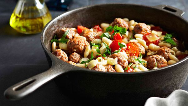 Cannellini beans with sausage