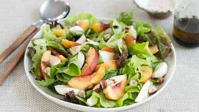 "Click through for our lush <a href=""http://kitchen.nine.com.au/2016/05/04/15/58/nectarine-salad"" target=""_top"">nectarine salad</a> recipe"