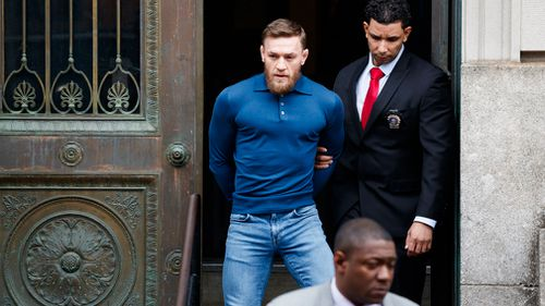 Conor McGregor handed himself in on Thursday. (AAP)