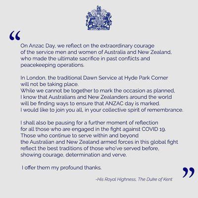 Prince Edward's touching statement