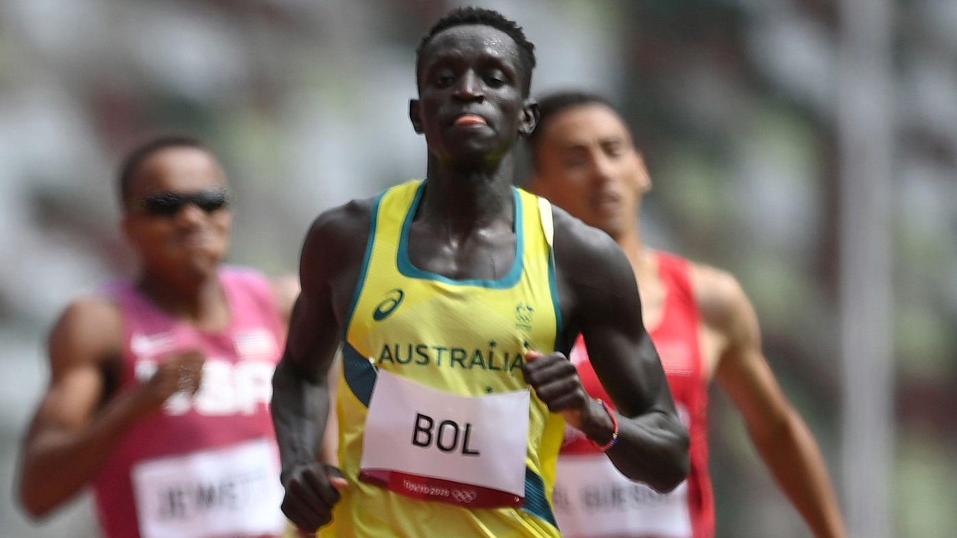 Peter Bol's record-breaking run headlines shining morning for Australia's athletics stars in Tokyo