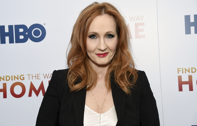 "Author and Lumos Foundation founder J.K. Rowling attends the HBO Documentary Films premiere of ""Finding the Way Home"" at 30 Hudson Yards on Wednesday, Dec. 11, 2019, in New York"