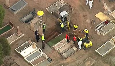 Exhumation begins