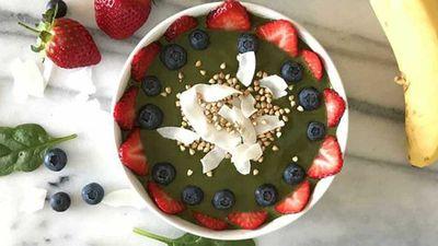 "Recipe: <a href=""http://kitchen.nine.com.au/2017/08/09/09/49/super-smoothie-bowl"" target=""_top"">Super smoothie bowl</a>"