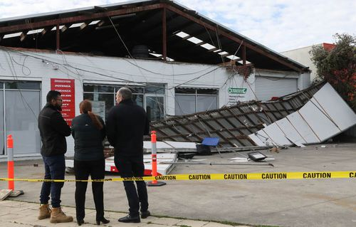Fierce winds triggered the partial collapse of a tyre business roof in Cranbourne, Victoria last week.