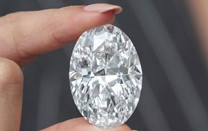 Rare diamond 'the size of a lollipop' goes up for auction