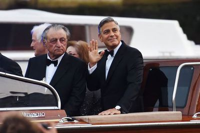 How dapper, Mr Clooney. <br/><br/>Looking very <I>Oceans Eleven</i>, main man George farewelled his single status in a custom-made Giorgio Armani suit worth <b>$5000</b>.