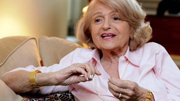 A file photo of Edith Windsor speaking during an interview in her New York City apartment in 2012. (AAP)