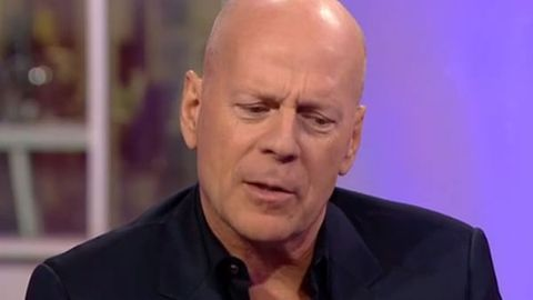Watch: Bored? Drunk? Bruce Willis's bizarre mumbling interview