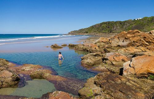 Coolam Beach on the Sunshine Coast in Queensland