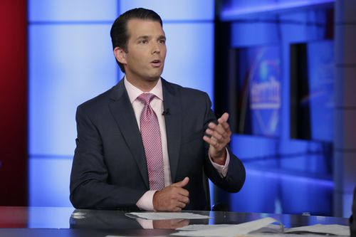 """Trump Jr """"happy to work with"""" JS House's intelligence committee (AP Photo/Richard Drew)."""
