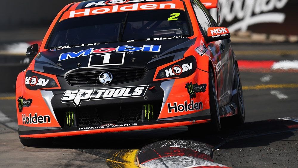 Garth Tander got on the podium in his final drive for HRT. (Getty Images)